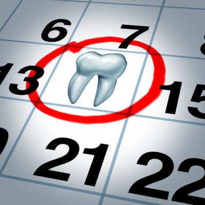 Zahnarzttermin einhalten